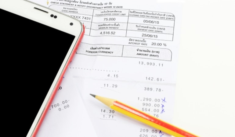 Mobile phone bill