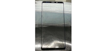 Samsung Galaxy Note 9 display pictured, with smaller bezels