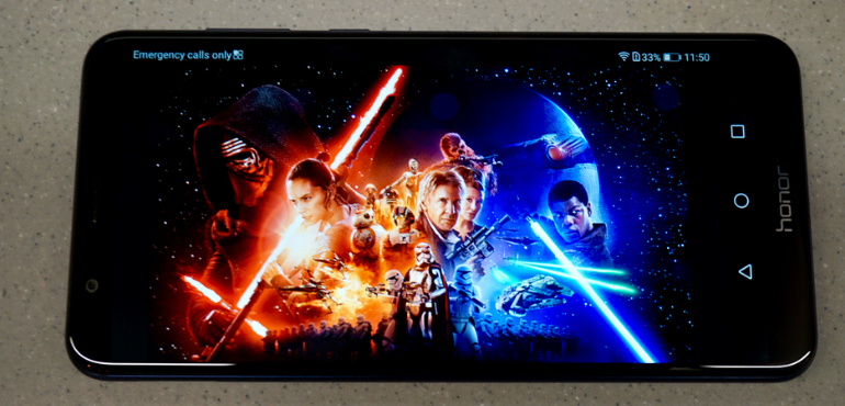Honor 7X screen Star Wars