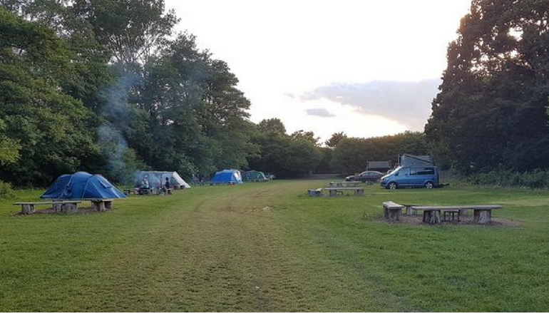 Campsite field photo good light