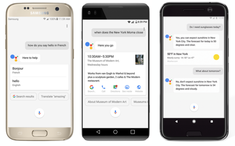 Google Assistant android phones
