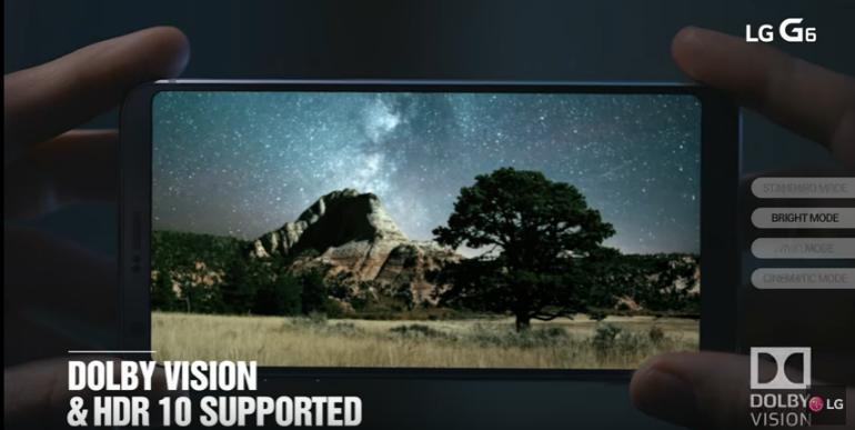 LG G6 screen dolby