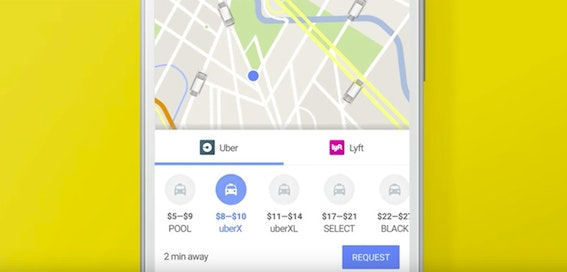 Google Maps update offers direct Uber booking