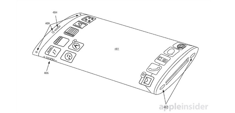iPhone with curved screen teased in new Apple patent