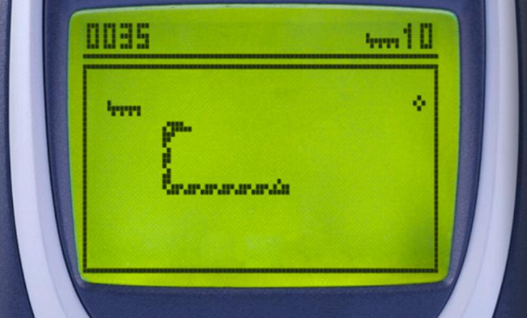 Snake 2 on Nokia 3310