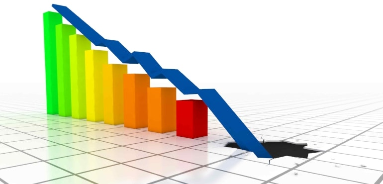 graph downward trend