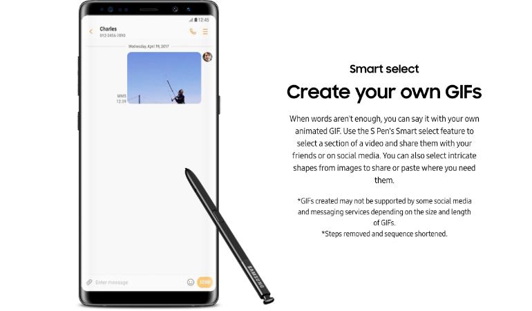 Samsung Galaxy Note 8 S Pen gifs