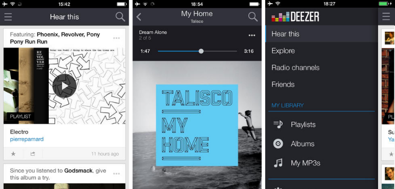 deezer iphone music streaming