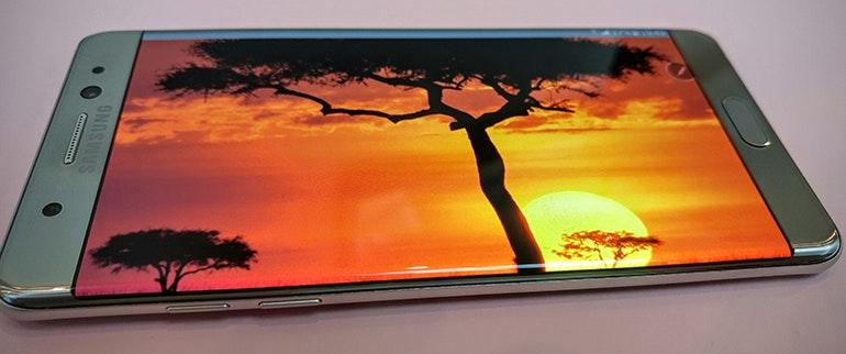 Samsung Galaxy Note 7 screen