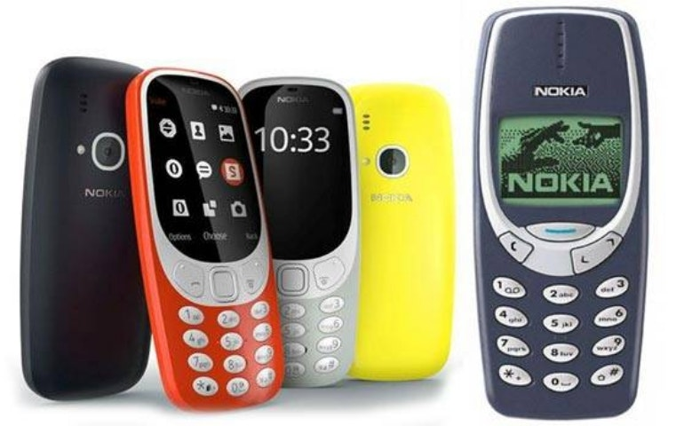 Nokia 3310 old and new designs