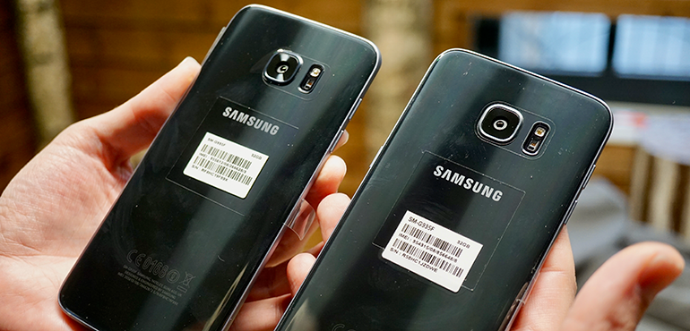 Samsung Galaxy S7 Edge vs refurbished phone back of handset