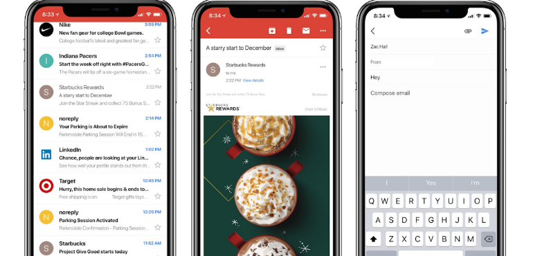 Gmail gets optimised for iPhone X