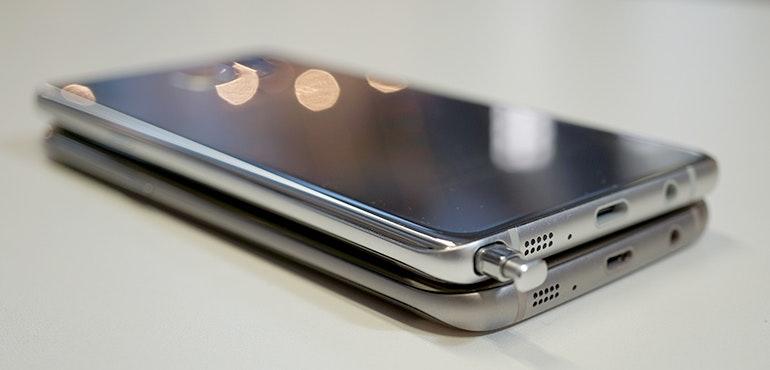 Samsung Galaxy Note 7 vs Galaxy S7 curve hero