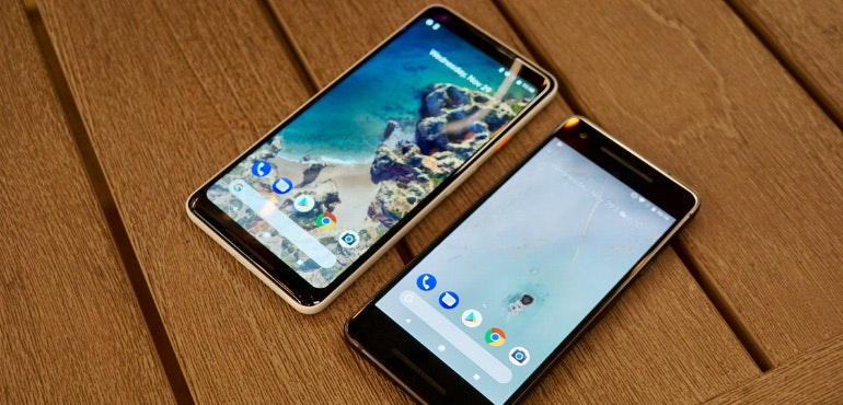 Google Pixel 2 and 2 XL side by side hero image