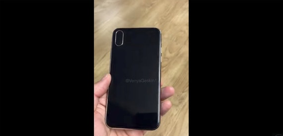 iPhone 8 dummy model appears in video