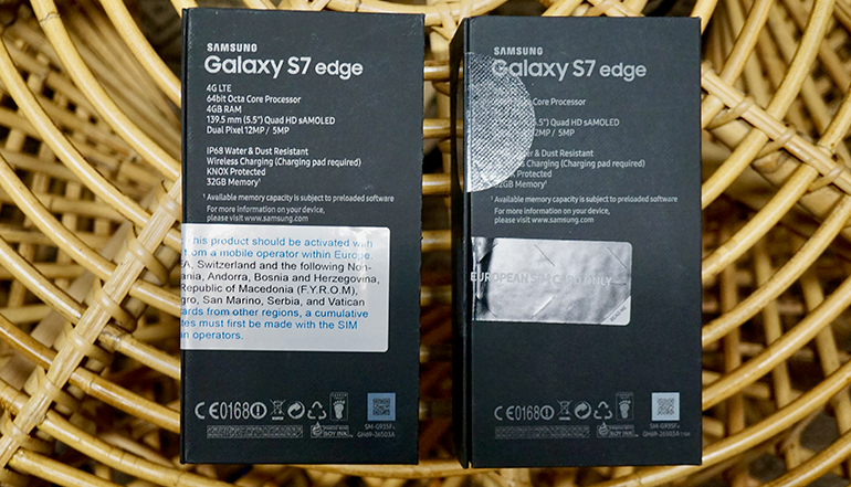 Samsung Galaxy S7 Edge vs refurbished phone unopened boxes sealed