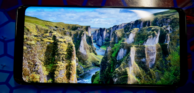 Samsung Galaxy S9 screen 2