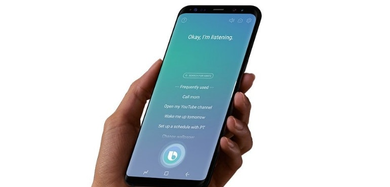 Bixby voice assistant listening Galaxy S8