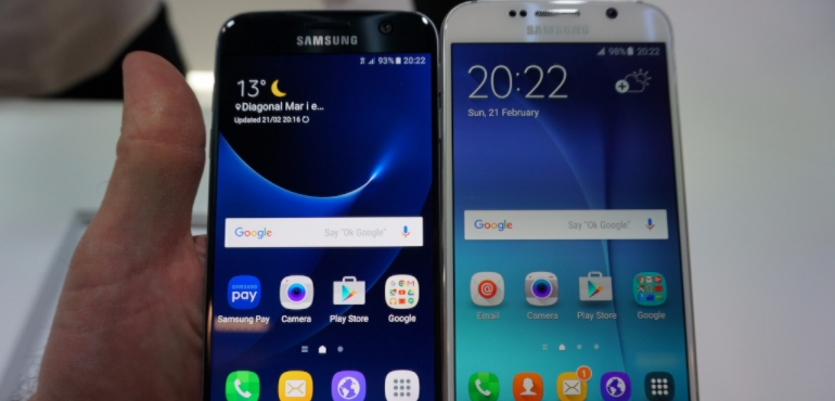 Samsung Galaxy S7 Edge vs Samsung Galaxy S6 Edge video