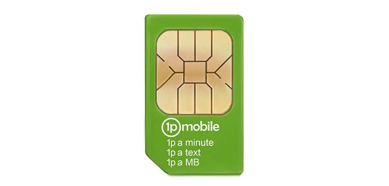 1p Mobile SIM card hero