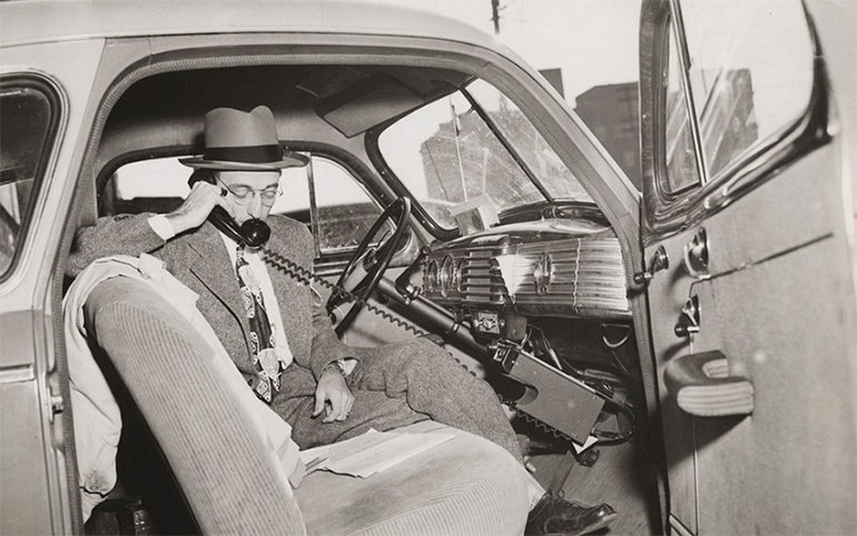 First-ever-car-phone