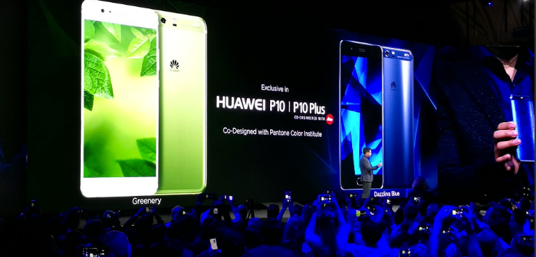 Huawei P10 green and blue