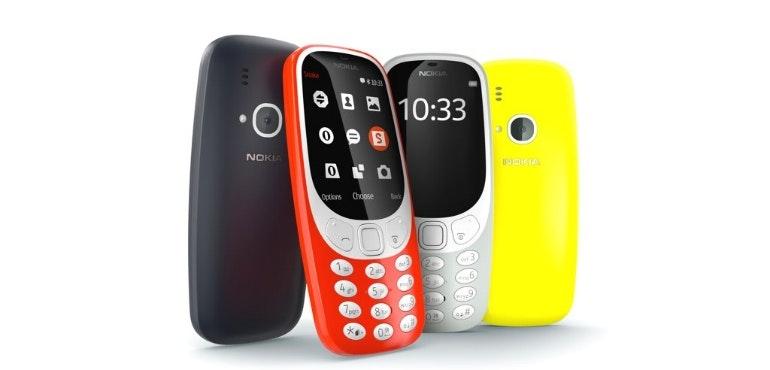 Nokia 3310 4 colours hero image