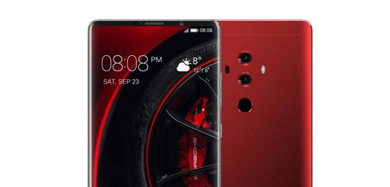 Huawei Mate RS closeup screen no notch
