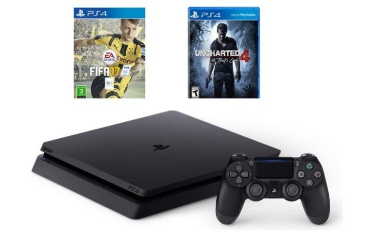 PS4 with Uncharted 4 and FIFA 17