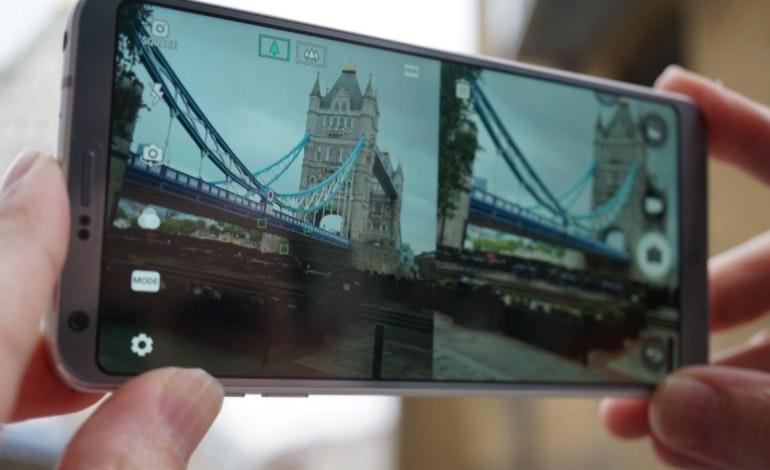 LG G6 split screen camera