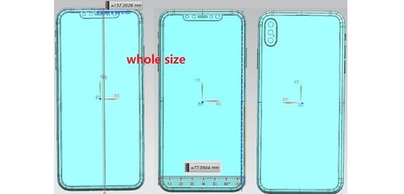 iPhone X Plus: Leaked drawings point to triple lens camera
