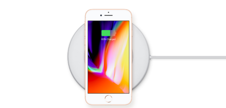 iPhone 8 wireless charging hero image