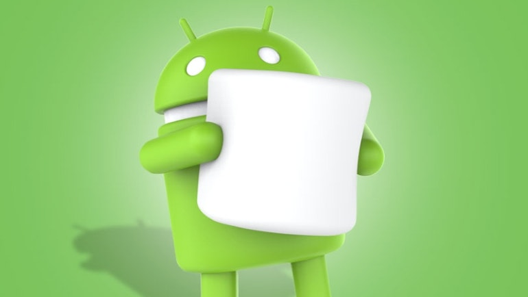 android marshmallow close up