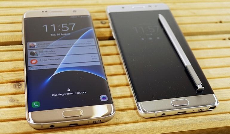 Samsung Galaxy Note 7 vs S7
