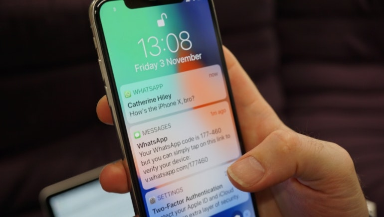 iPhone X unlocking notifications