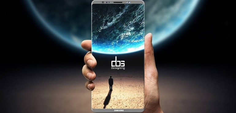 Samsung Galaxy Note 8 hero render