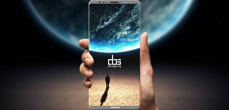 Samsung Galaxy Note 8 hero render