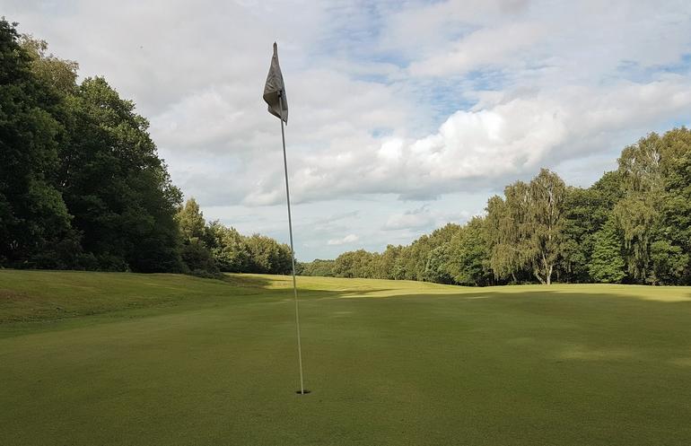 Landscape photography golf flag