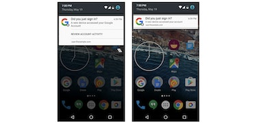 Android now tells you when new device uses your Google account
