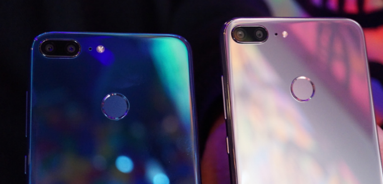 Honor 9 Lite silver and blue backs hero size