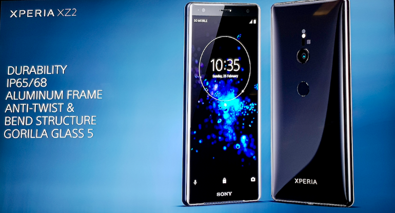 Sony Xperia XZ2 design