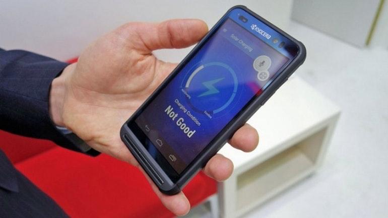 Kyocera solar powered phone