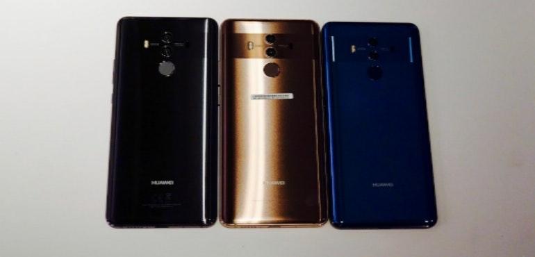 Huawei Mate 10 three colours hero size
